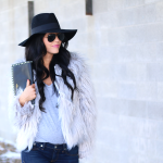 Grey Faux Fur Jacket