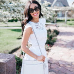 Lady in White with Kate Spade New York