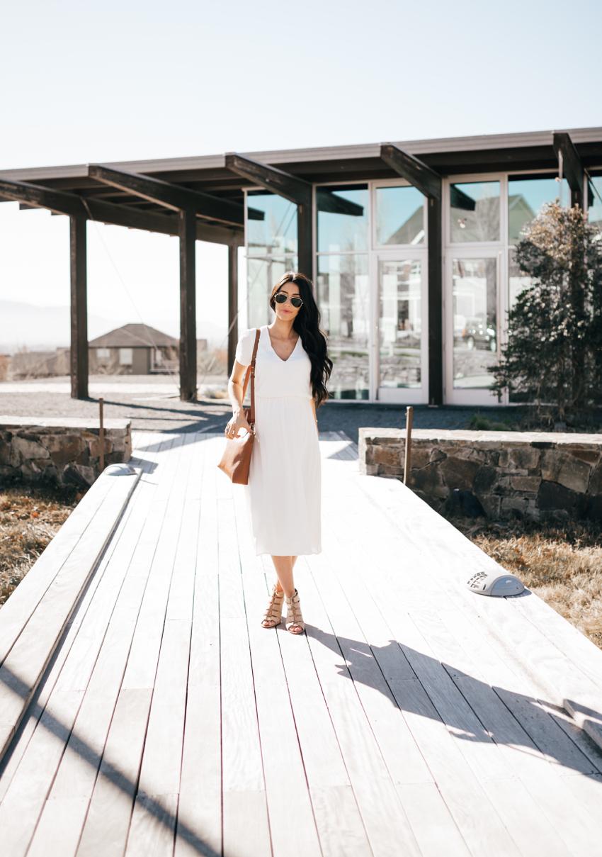 Wayf White Dress - 1