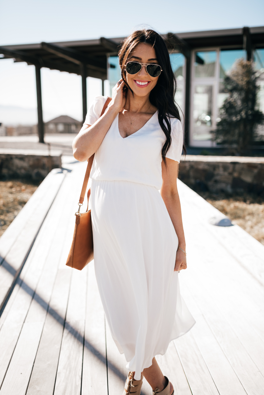 Wayf White Dress - 10