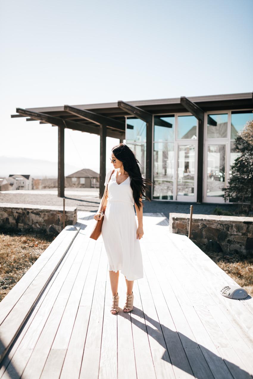 Wayf White Dress - 2