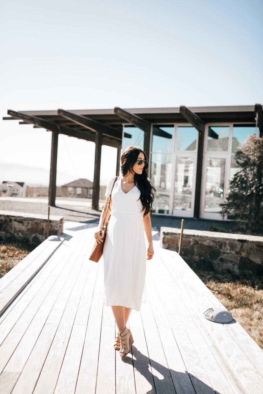 Wayf White Dress - 6