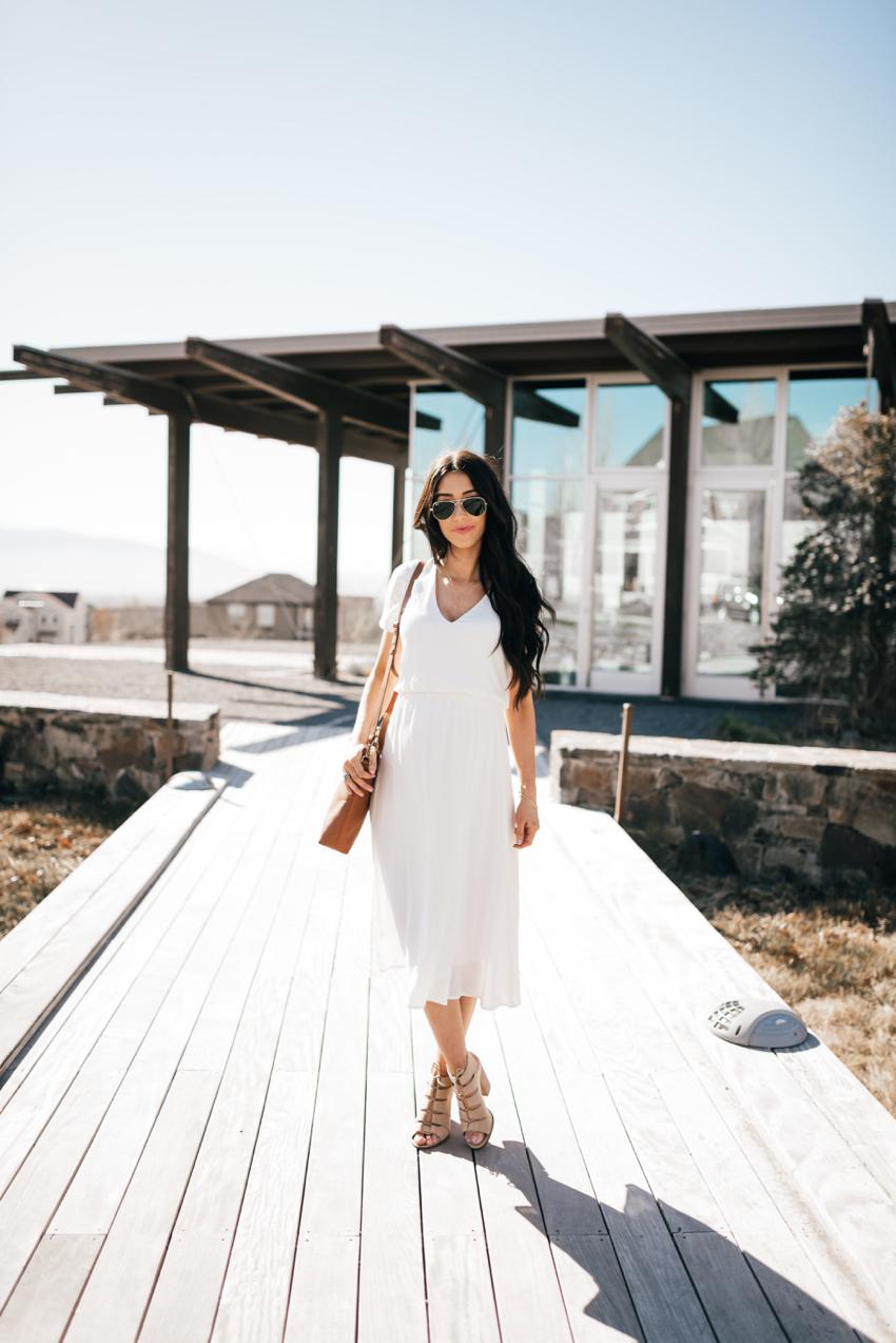 Wayf White Dress - 7