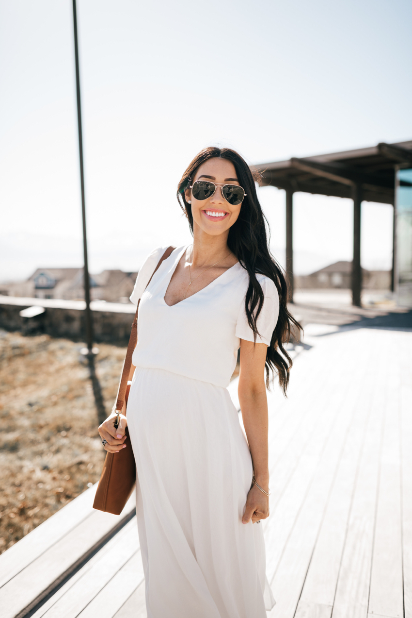 Wayf White Dress - 8