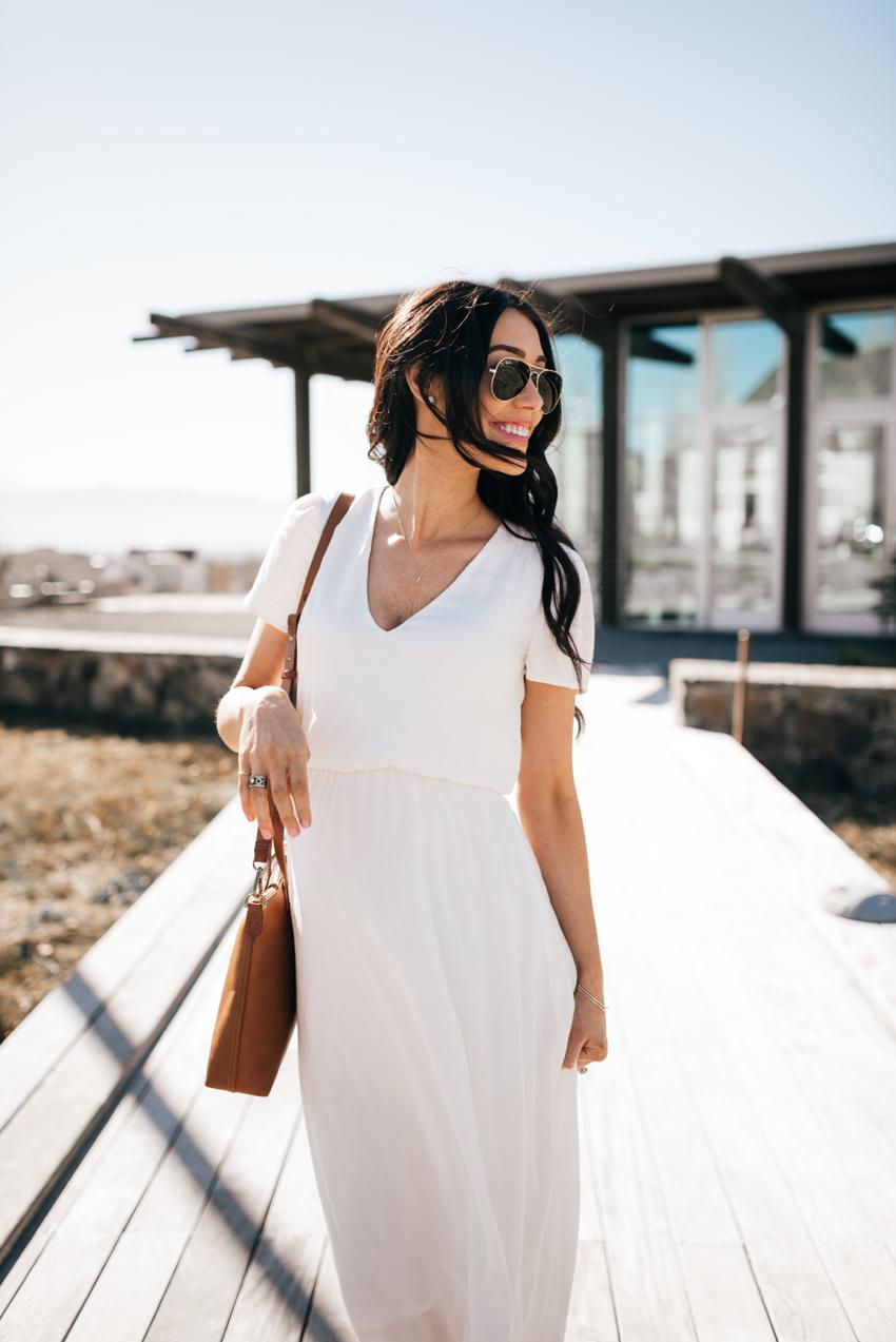 Wayf White Dress - 9