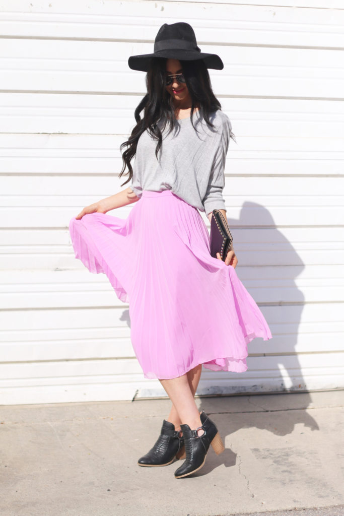 Pop of Color with a Skirt