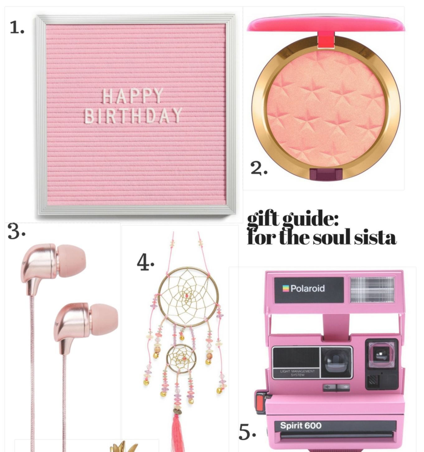 Gift Guide: For the Soul Sista