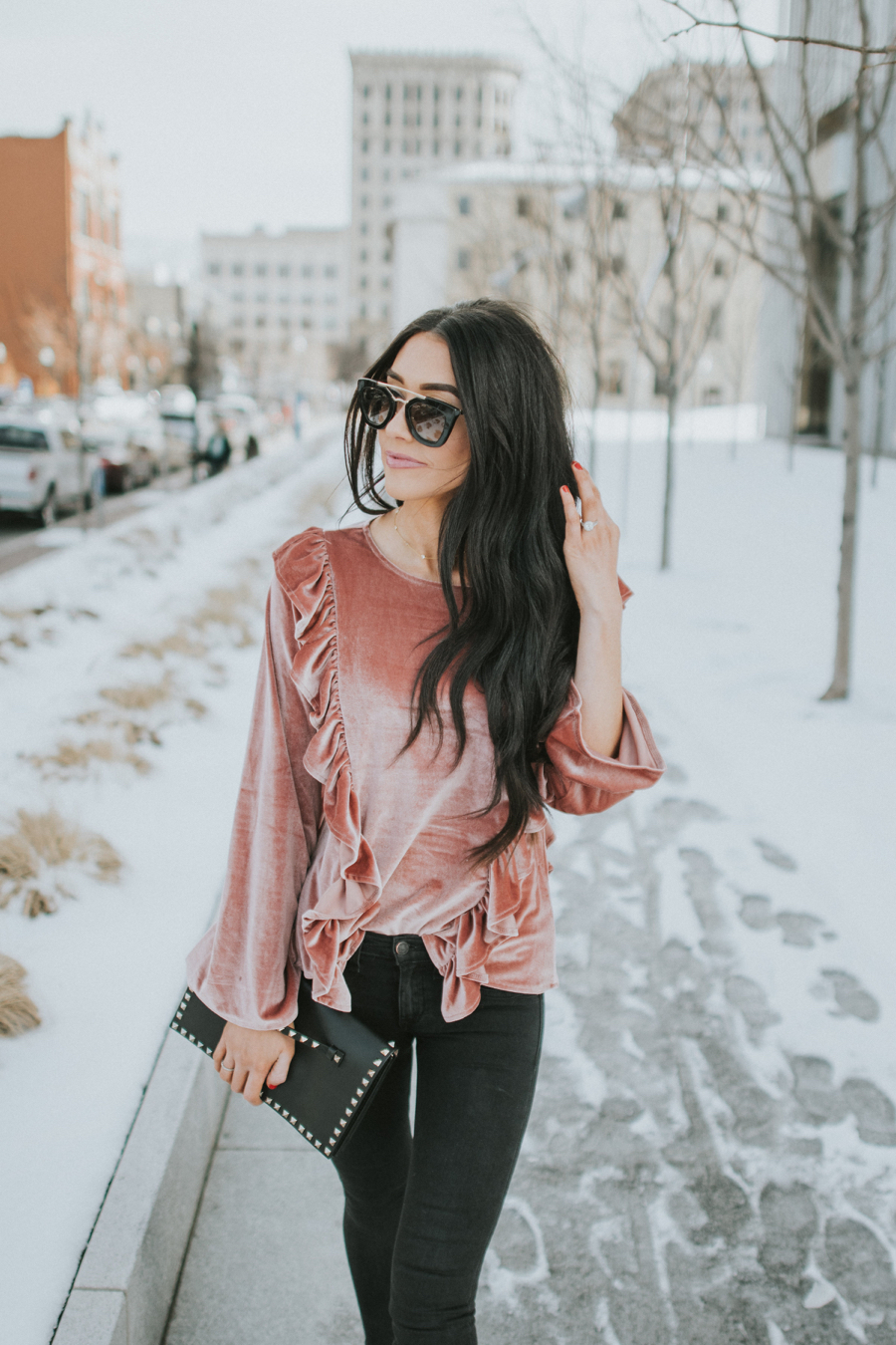 Crushed Velvet Blouse