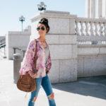 Styling Floral Kimono + Destress Denim