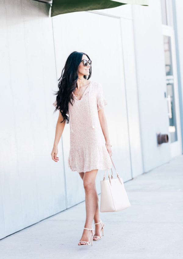 Summer Blush Floral Dress