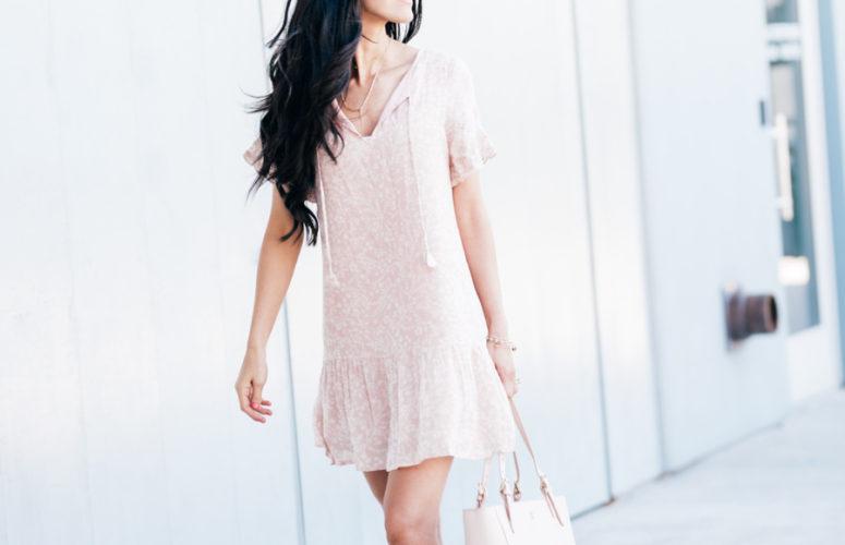 Summer Blush Floral Dress