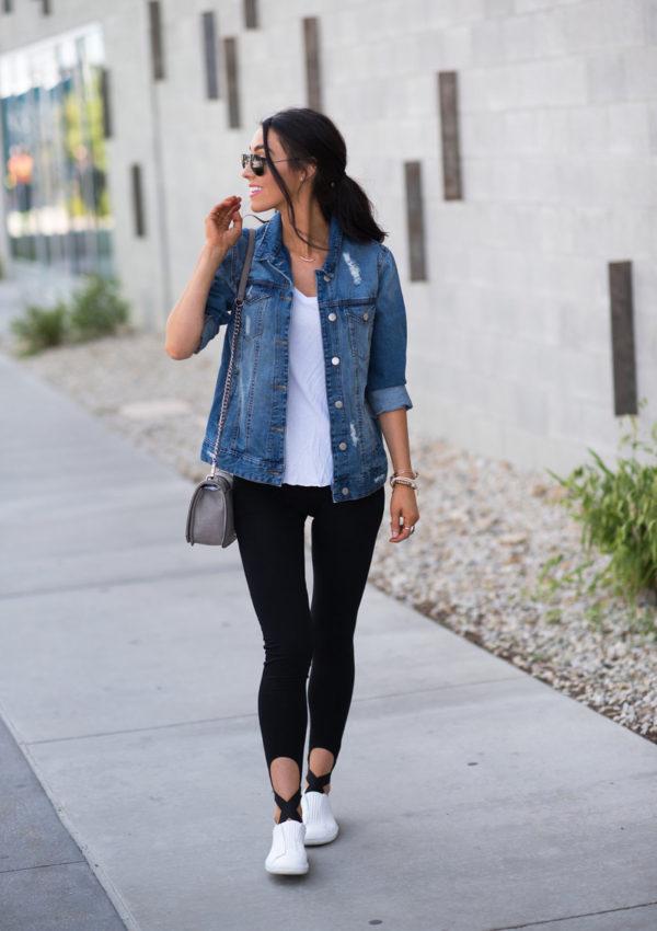 Simple Leggings + Denim Jacket
