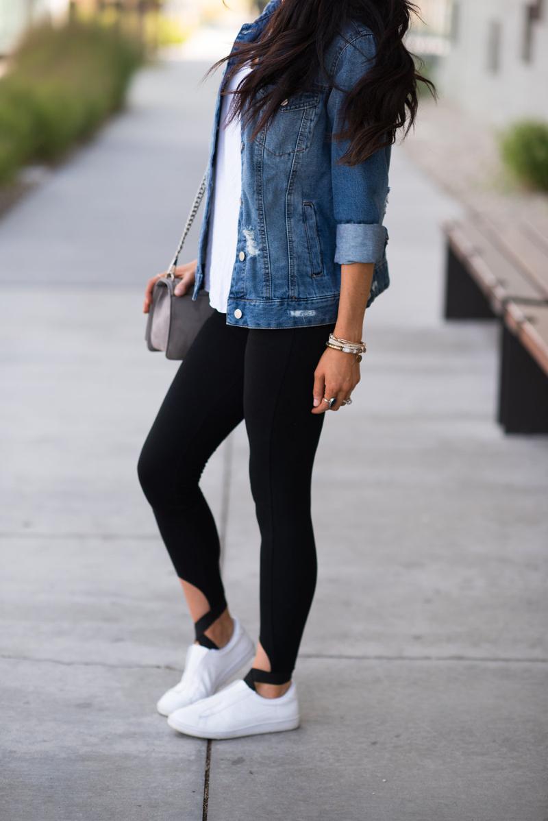Simple Leggings Denim Jacket Brittany Maddux