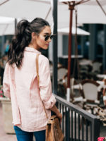 Oversized Pink Button Up