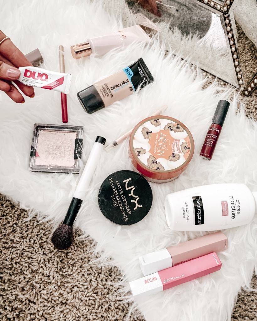 Drugstore makeup dupes and favorites for an everyday glam look