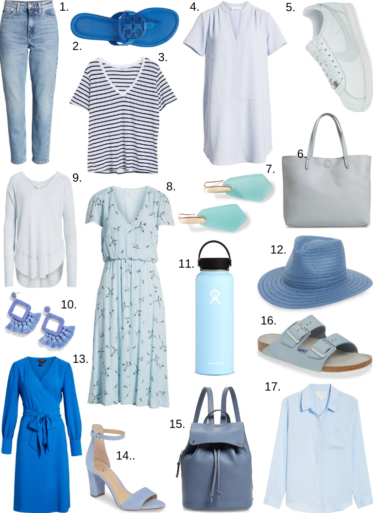 hues of blue for spring